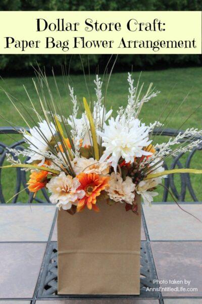 Dollar Store Craft: Paper Bag Flower Arrangement