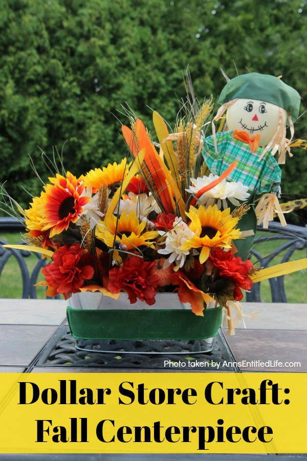 Dollar Store Craft: Fall Centerpiece. This is a fun, easy to make fall craft you can make with basics found at your local dollar store. If you are looking for an inexpensive, yet beautiful craft, you can make this fall centerpiece in about 45 minutes with these step-by-step instructions.
