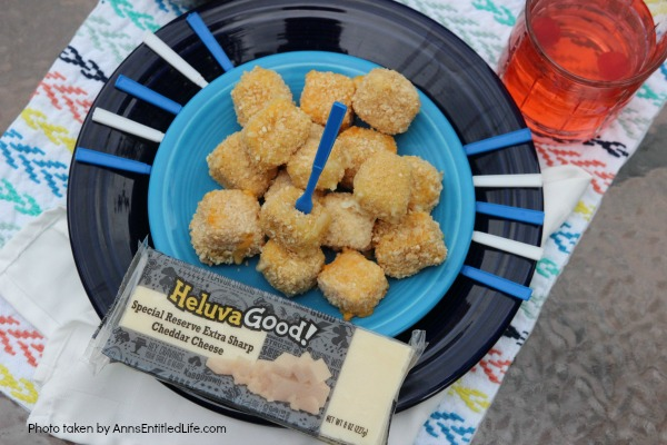 Gluten-Free Cheese Bites Recipe. Make your own gluten-free cheese bites with this easy recipe. Great for entertaining, these cheese bites are packed with gooey cheesy deliciousness! Easily frozen, this gluten-free cheese bites recipe is one your friends and family will thoroughly enjoy!