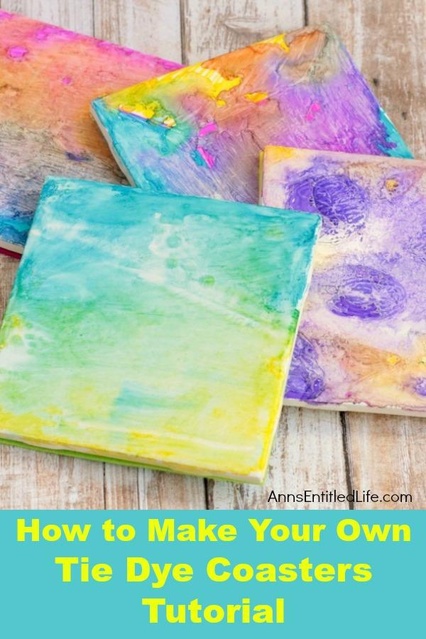 tie dye coasters tutorial