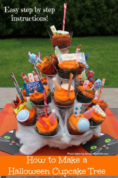 How to Make a Halloween Cupcake Tree