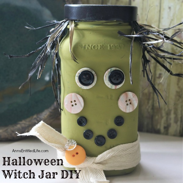 Halloween Witch Jar DIY. If you are looking for fun, easy to make Halloween crafts, this simple step-by-step Halloween Witch Jar DIY tutorial will fill the bill! Highly customizable, this straightforward Halloween craft is inexpensive to make. And, nearly anyone can make it. For a sure Halloween decor winner, make this Halloween witch jar!