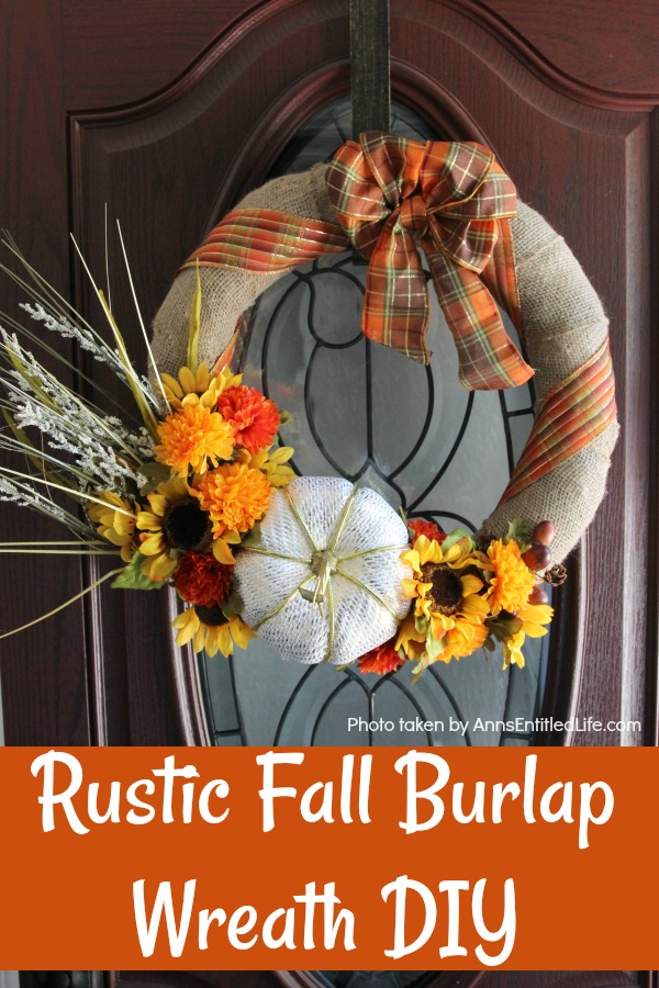 Rustic Fall Burlap Wreath DIY This Tutorial On How To Make A