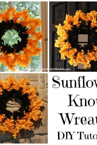 Sunflower Knot Wreath