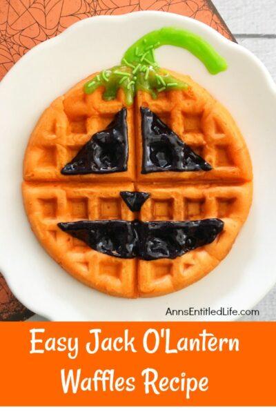 Easy Jack O'Lantern Waffles Recipe