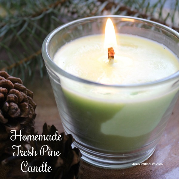 Fresh Pine DIY Candle. Make your own homemade fresh pine scented candles. This candle making craft is easier than you think. You can make these in no time flat using this step by step how to make a fresh pine tutorial. Make a few and give them as gifts!