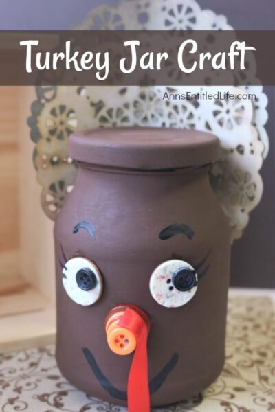 Thanksgiving Turkey Jar Craft