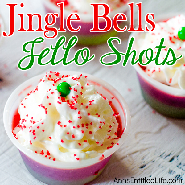Jingle Bells Jello Shots Recipe. These fun and festive Jingle Bells Jello Shots are easy to make. If you have a holiday get-together and/or party between now and the holidays, make these gelatin shots for the over 21 crowd!! They really are good. And they will remind everyone of when they were 21 (or 18) again!