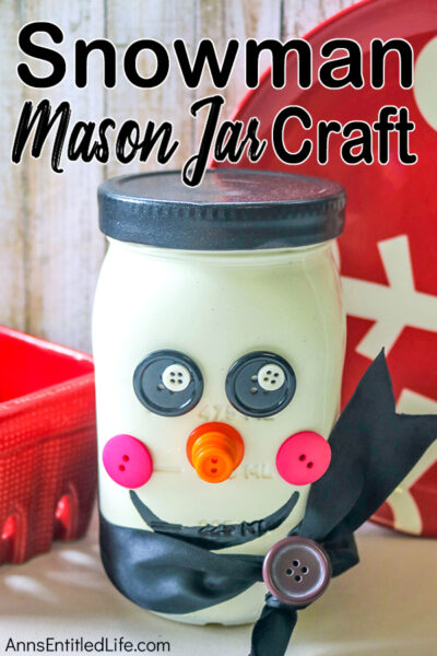 Snowman Mason Jar Craft DIY