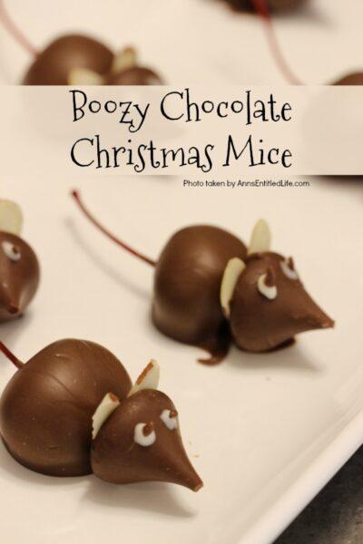 Boozy Chocolate Christmas Mice