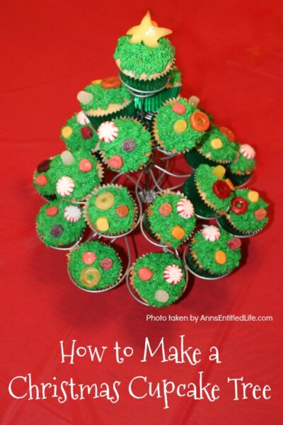How to Make a Christmas Cupcake Tree