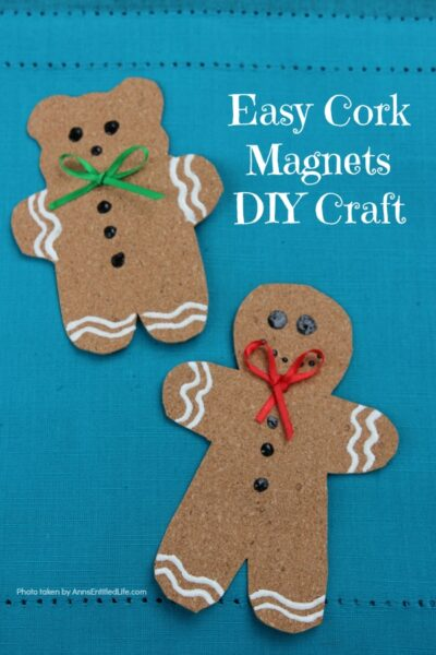Easy Cork Magnets DIY Craft
