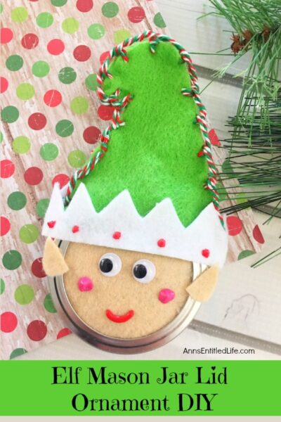 Elf Mason Jar Lid Ornament DIY
