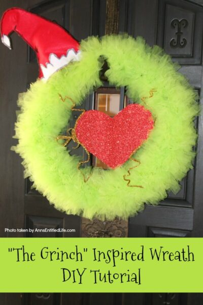 The Grinch Inspired Wreath DIY Tutorial