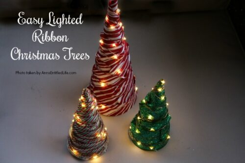 easy lighted ribbon christmas tree - How To Decorate A Christmas Tree With Ribbon Horizontally