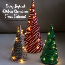Crafts easy lighted ribbon christmas tree solutioingenieria Image collections