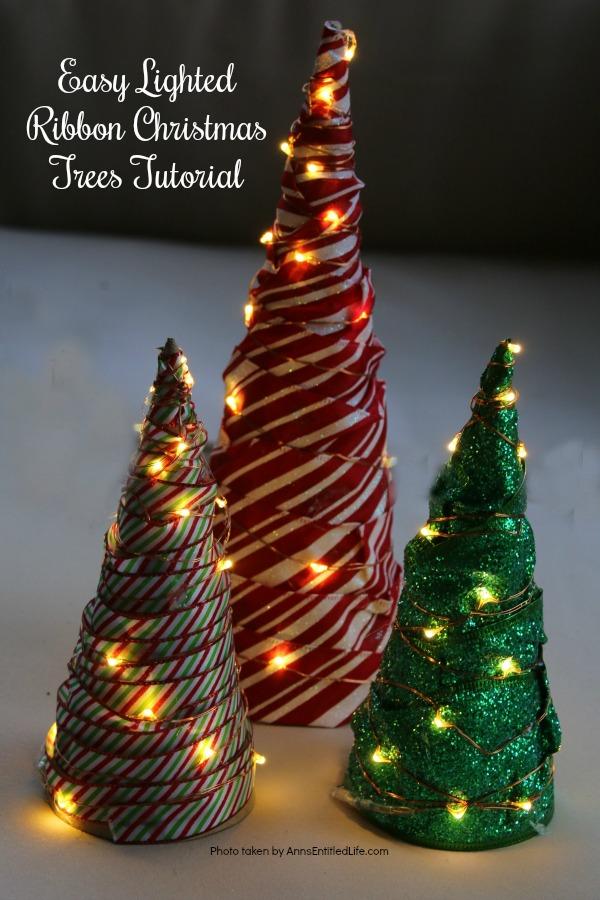 Easy Lighted Ribbon Christmas Tree