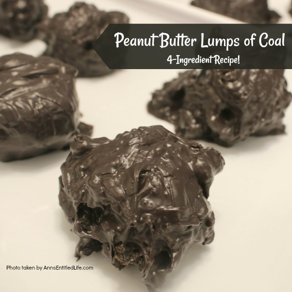 Peanut Butter Lumps of Coal Recipe. This no-bake, easy to make peanut butter lump of coal cookie recipe is a fun update to traditional lump of coal cookies. These peanut butter cookies are soft, moist, delicious, and only 4-Ingredients!