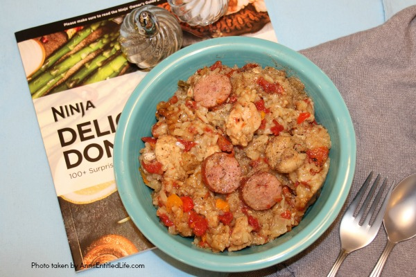(ad) Jambalaya made with the Ninja® Cooking System with Auto-iQ™. #NinjaDeliciousDoneEasy #NinjaPartner Come read about the wonderful Ninja® Cooking System with Auto-iQ™! Great cooking functions, easy to follow recipes, and the chance to win one of 20 being offered (now through 12/31/17).