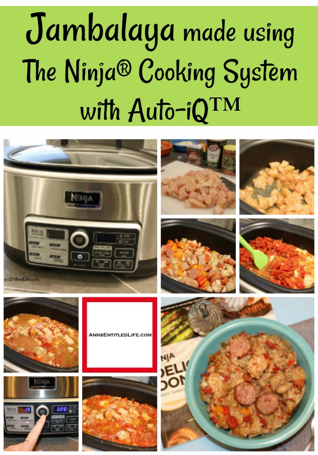(ad) Jambalaya made with the Ninja® Cooking System with Auto-iQ™. #NinjaDeliciousDoneEasy #NinjaPartner Come read about the wonderful Ninja® Cooking System with Auto-iQ™! Great cooking functions, easy to follow recipes, and the chance to win one of 20 being offered through their giveaway (now through 12/31/17).