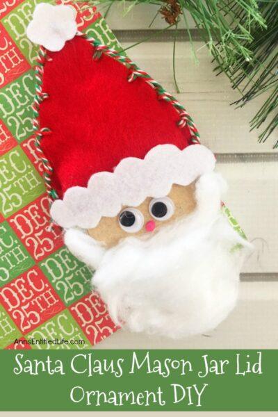 Santa Claus Mason Jar Lid Ornament DIY