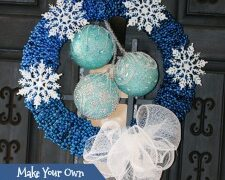 Snowflake Bead Wreath Craft DIY