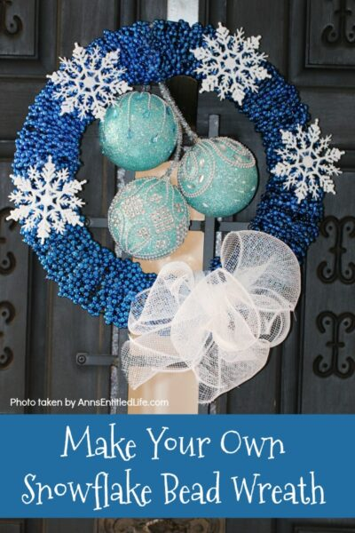 Snowflake Bead Wreath Tutorial