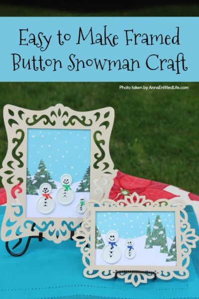 Framed Button Snowman Craft