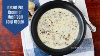 Instant Pot Cream of Mushroom Soup Recipe