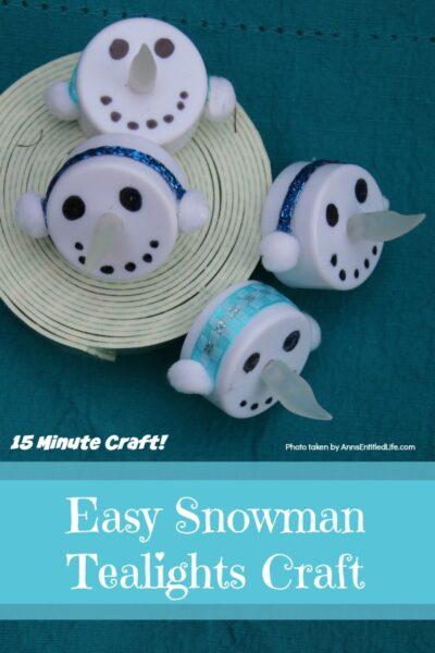 Easy Snowman Tealights Craft
