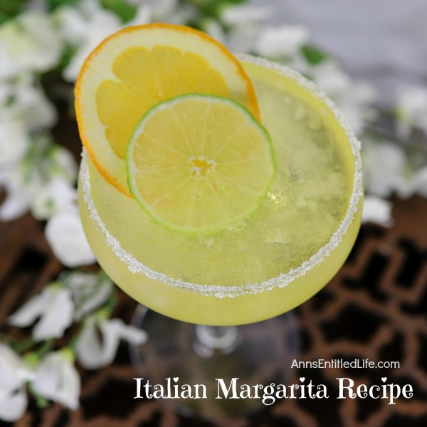 Italian Margarita Recipe. This sweet and tart Italian Margarita recipe is a fun update to a traditional margarita. This refreshing Italian margarita is an easy to make cocktail perfect for a party, sipping in the backyard, or to enjoy on a relaxing weekend with friends.