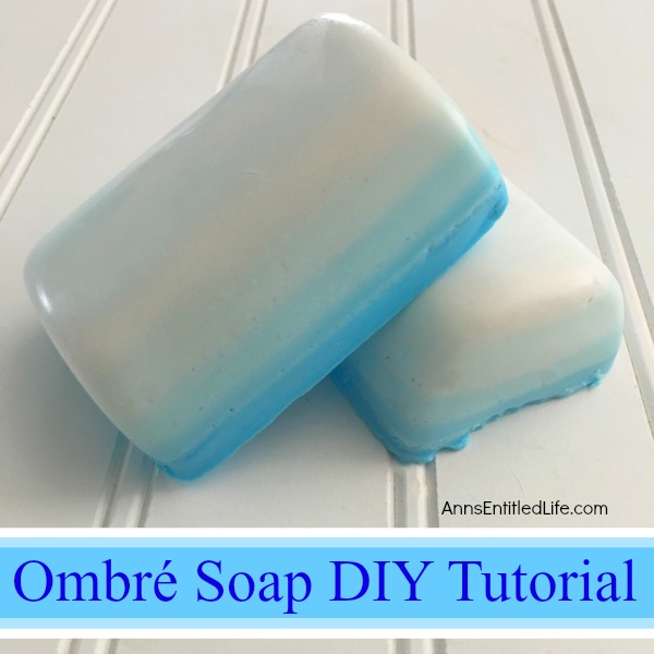 Ombre Soap DIY Tutorial. Make your own fun soaps with this easy to follow ombre soap tutorial. Learn how to gradually blend the soap colorant to make this delightful, whimsical ombre soap. Making your own soap is fast, fun and easy. Great for gifts or your own home décor!