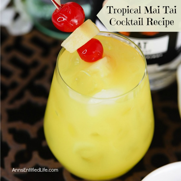 Tropical Mai Tai Cocktail Recipe. This Tropical Mai Tai Cocktail Recipe is a rum-based drink that will have you thinking of sandy tropical beaches and warm summer breezes. The Tropical Mai Tai is perfect for any occasion.