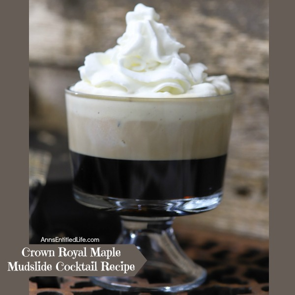 Crown Royal Maple Mudslide Cocktail Recipe. This Mudslide offers a slight twist from the traditional mudslide recipe. The Crown Royal Maple Finished adds a sweet, maple taste.