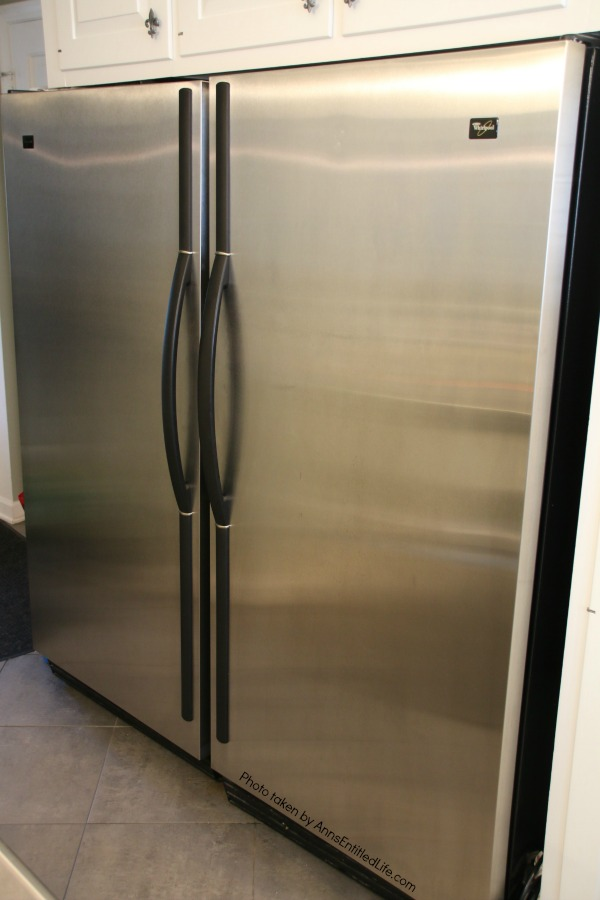 stainless steel fridge and stainless steel freezer
