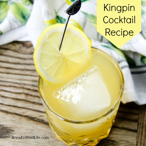 Kingpin Cocktail Recipe. A delicious, old-fashioned cocktail, this whiskey delight is fabulous for parties or as a relaxing after dinner cocktail. Simple to make, the Kingpin Cocktail harkens back to the days of glamour and glitz!