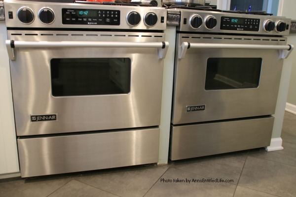 two stainless steel Jenn-Air stoves