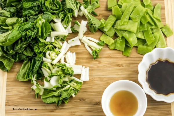Bok Choy and Snow Peas Sauté Recipe. Fresh bok choy combined with tender, sweet snow peas to make fabulous use of fresh garden vegetables, in a quick and easy stir-fry vegetable side dish recipe. This is one simple to make, delicious stir-fry vegetable recipe. Yum!