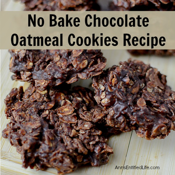 No Bake Chocolate Oatmeal Cookies. Serve up a batch of No Bake Chocolate Oatmeal Cookies the next time you crave something sweet on a hot summer day! Quick, easy to make, and very kid friendly, these No Bake Chocolate Oatmeal Cookies are absolutely delicious.