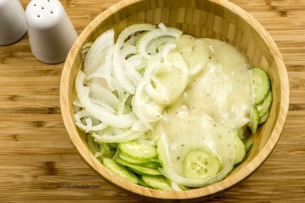 Creamy Cucumber Salad Recipe. Grandma's old-fashioned Creamy Cucumber Salad Recipe. Super easy to make, this is a delicious blend of cucumbers and onions in a sweet, creamy sauce is the perfect cucumber salad recipe!