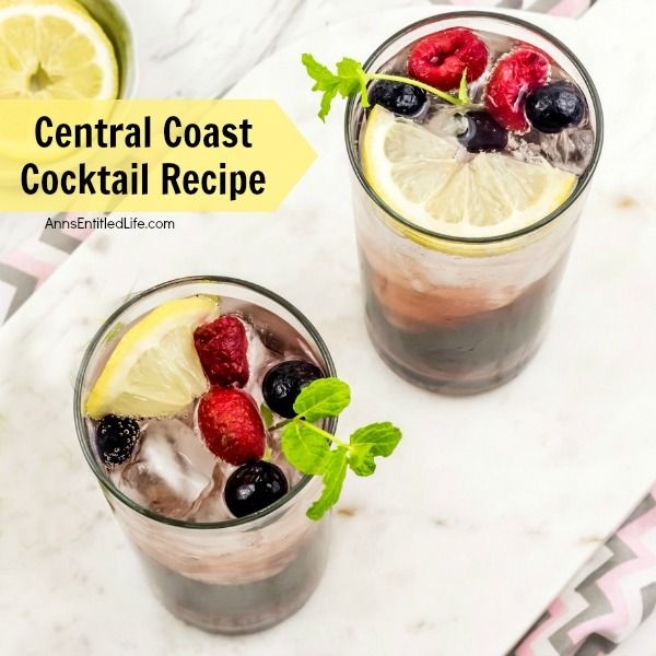 Central Coast Cocktail Recipe. Prepare yourself for the taste bud explosion - of the best kind – that this Central Coast Cocktail has to offer! One of the most outstanding qualities of this cocktail recipe is that it tastes just as you would imagine a summer drink should taste - light, bubbly and 100% refreshing. This yummy Central Coast Cocktail Recipe is the perfect combination of sweet and tart, with a touch of fresh mint flavor. Simply delightful.