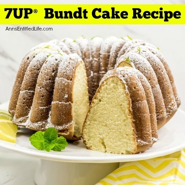 7UP® Bundt Cake Recipe. Who remembers this wonderful 7UP® Bundt Cake recipe from scratch? This old-fashioned 7UP® Bundt cake is one of the recipes my grandmother made over 50 years ago. This is a delicious classic, moist, easy scratch-cooking (baking) pound cake with a sweet yet tangy lemon-lime flavor. If you like old-fashioned baking recipes, you are going to want to try this fabulous 7UP® Bundt Cake recipe!