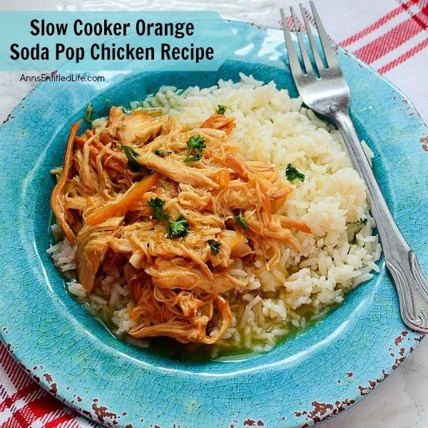 Slow Cooker Orange Soda Pop Chicken Recipe. Tired of boring slow cooker chicken recipes? Jazz up your chicken dinner with this unusual orange chicken recipe featuring orange pop!