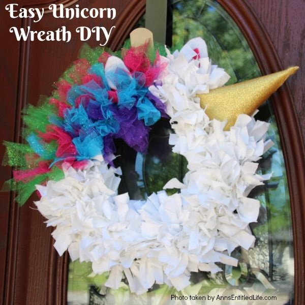 Easy Unicorn Wreath Diy
