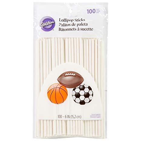 Lollipop sticks 100 count 6 inch