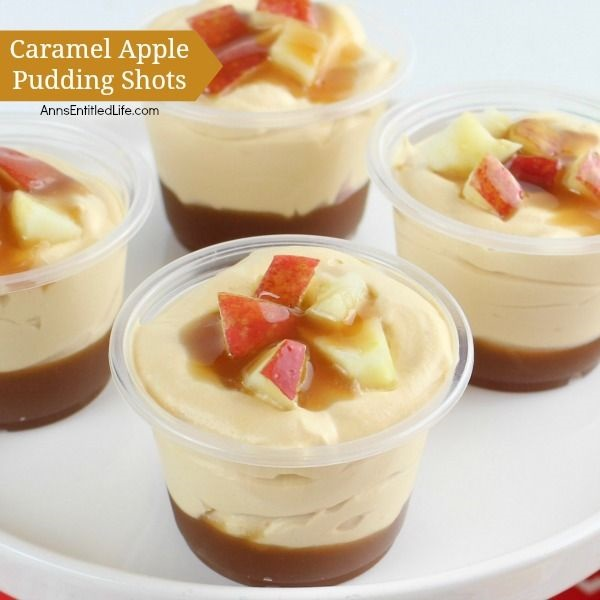 Caramel Apple Pudding Shots Recipe. Creamy apple-caramel goodness in a pudding shot! These easy to make, smooth and delicious Caramel Apple Pudding Shots are fall favorites, great for parties, tailgating, and more.