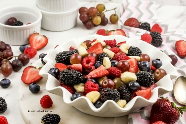 Simple Summer Fruit Salad Recipe. If you like fresh fruit - and who doesn't!? - you will love this simple summer fruit salad recipe. Easy to make, it comes together quickly and tastes fantastic. The