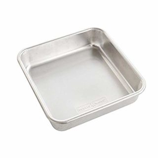 "Nordic Ware 47500 Naturals Aluminum Commercial 8"" x 8"" Square Cake Pan, Silver"