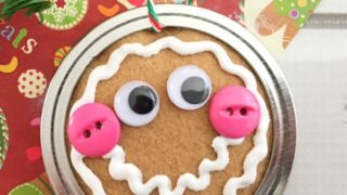 Gingerbread Man Mason Jar Lid Ornament DIY