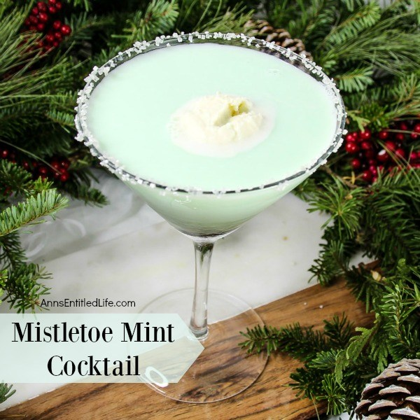 Mistletoe Mint Cocktail. A wonderful holiday cocktail recipe, this terrific Christmas drink is perfect for the holiday season. Light and refreshing, this will become one of your favorite Christmas drinks! Give your taste buds a minty treat with sip after sip of this delicious holiday cocktail.